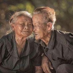 Sweet Romantic elder senior couple Love!