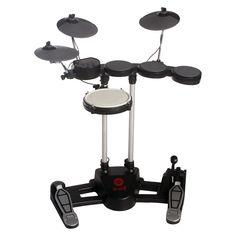 Hitman Electric Drum Set (iPad, smartphone and laptop accessory) - Black Acoustic Drum Set, Electric Drum Set, Drum Pad, Keep The Peace, Drum Kits, Laptop Accessories, Musical Instruments, Drums, Compact