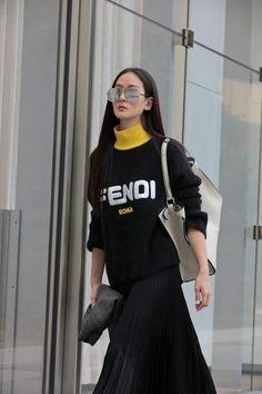 8c1210c37909 Aimee Sun in  FendiMania Fendi