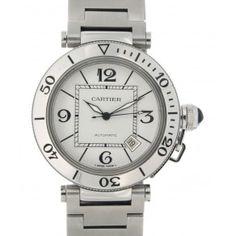 PASHA SEATIMER W31080M7 STEEL, 40MM Cartier, Steel, Watches, Silver, Accessories, Money, Clocks, Clock, Iron