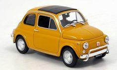 Fiat 500 ocker 1957 Welly. Fiat 500 ocker 1957 miniature 1/18