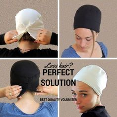 White Volumizer & Anti Slip Headband-NEW-All In One Hat-Great under Head Scarves, wigs, Chemo, Head Coverings Volumizing Hijab Headpiece No Slip Headbands, Turban Hat, Turban Style, Hijab Tutorial, Mode Hijab, Afro, Social Platform, Fun To Be One, Cool Suits