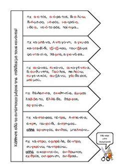 Κανόνες συλλαβισμού by Graigou Evangelia Greek Language, Grammar, Parenting, Bullet Journal, Teaching, Education, School, Blog, Classroom Ideas