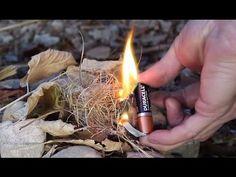 Como hacer fuego con pila y papel de chicle - Adrián de la Cruz - YouTube