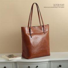 Handmade Genuine Leather Women's Fashion Tote Handbag Shoulder Bag in Red 14149 - LISABAG