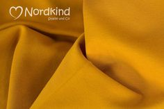 """Bündchenstoff+""""Heike""""+senf+von+Nordkind+Stoffe+&+Co+auf+DaWanda.com"""