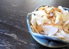 Caramelized Coconut Chips (for those who need a salty snack...)