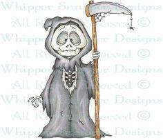 Grim - Halloween Images - Halloween - Rubber Stamps - Shop