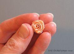 How to Make a Folded Paper Rose | AllFreePaperCrafts.com