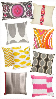 particularly fond of the sunny yellow chevron pillow