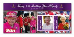 IOM Special cover to mark Queen's 90th birthday  To mark Her Majesty the Queen Elizabeth II 90th Birthday, Isle of Man Stamps and Coins have commissioned a special cover and exclusive sheetlet with a birthday wish from The Sun's royal photographer, Arthur Edwards MBE.