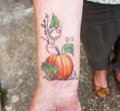 20 Tattoos For Those Who Are Positively Possessed By Pumpkins