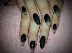 Black & transparent + glitter