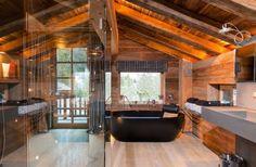 We love this bathroom at Chalet Grande Cerf — Meribel, France, Luxury Ski Chalets, Ski Boutique