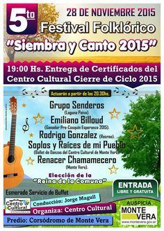 Monte Vera - Festival Folklorico Siembra y Canto 2015 - Region Litoral