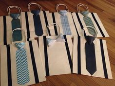 Bowtie or Tie Paper Gift Bags for Groomsmen, Ushers, Ring Bearers Gifts for Weddings by BallerinaCreations on Etsy, $3.50
