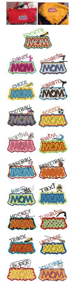 Embroidery | Machine Applique Designs | Sports Mom Applique