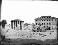 Roma - Piazza Bocca della verità Cronologia del fototipo sec. XIX seconda metà