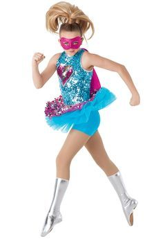 Weissman™ | Superhero Sequin Character Costume For Glowing Stars, Tuesdays 9:30AM (no spats)