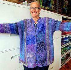 Ravelry: Diamond Panel Jacket pattern by Melody Johnson, free pattern