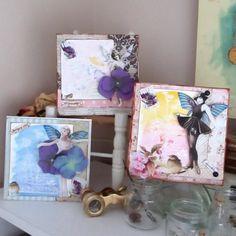 3 Handmade cards Retro Fairy vintage-style by MySweetGreetings