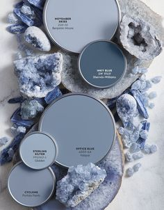 Color Report: The Restorative Power of Mineral Hues — Better Homes & Gardens – Projects to Try – paint Sherwin Williams Sea Salt, Paint Colors For Home, Light Blue Paint Colors, Shades Of Blue Color, Paint Colors For Walls, Paint Colours For Bedrooms, Duck Egg Blue Colour Palette, Blue Grey Paint Color, Blue Room Paint