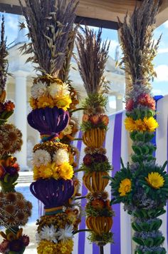 Easter in Lithuania: Lithuanian verbos, or Easter palms