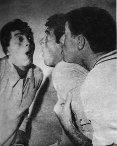 Dean Martin and Jerry Lewis goofing around at The El Mirador Hotel, 1952.
