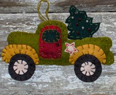 Pick Up and Delivery Truck Primitive Penny Rug Ornament. $27.00, via Etsy.