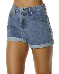 A.BRAND A HIGH RELAXED WOMENS SHORT - LA BLUES