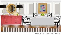 Pawleys Island Posh: Modern Traditional Dining Room