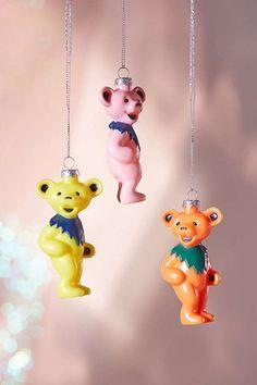 Grateful Dead Bear Christmas Ornament   Urban Outfitters