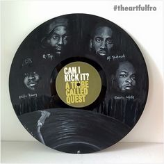 Can you kick it with this #tribecalledquest illustration on vinyl by the extremely talented @theartfulfro  #artmeetsmusic Streetartfiles #welovestreetart # #art