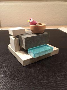 Birdhouse with infinity pool.