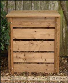 Eco 90 Gallon Wood Composter