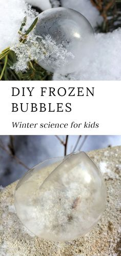 Grab your coat and head outside for some fun winter science with the kids. Learn how to make beautiful DIY frozen bubbles with our homemade bubble recipe. It's such an awesome cold-weather activity for kids of all ages! #frozen #bubbles #winter