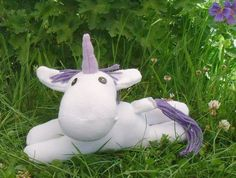 Sock Unicorn, hand crafted  sock animal, soft toy,  soft sculpture,  Mirabelle