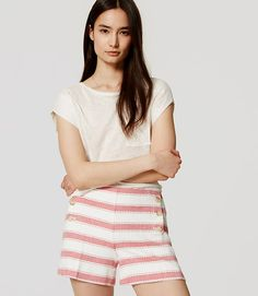 """Image of Striped Sailor Riviera Shorts with 4"""" Inseam"""