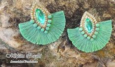 17 Outstanding Styles To Wear Beaded Tassel Earrings Diy Tassel Earrings, Soutache Earrings, Fringe Earrings, Statement Earrings, Earrings Handmade, Handmade Jewelry, Diy Jewelry, Beaded Jewelry, Women Jewelry