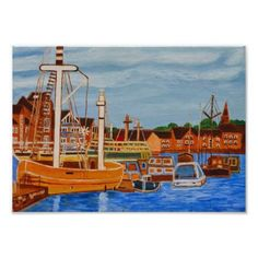 Exeter Ship Canal Poster - birthday gifts party celebration custom gift ideas diy
