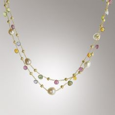 designer pearl and gemstone necklace - Google Search