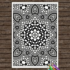 Items similar to Colouring Book Printable Coloring Page Adult Mandala Strength Colouring Book Coloriage Kids Doodle Zen Henna Tribal Hippie Digital Download on Etsy