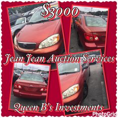 ATTENTION ALL COLLEGE STUDENTS IF YOU LIKE THIS 2008 TOYOTA COROLLA CALL Jean Corioland ASAP!!!!!! QUEEN B's INVESTMENTS PROMOTES Jean Jean Auction Services!!!! IT IS AVAILABLE FOR $3000 AND JEAN JEAN IS AN EXPERT ON CARS!!!! IF YOU ARE INTERESTED CALL 3052445278 AND DONT FORGET TO FOLLOW HIM ON FACEBOOK @ JJAuctionServices 🏎💨💨💨💨💨💨💨💨