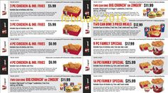 Kfc Coupons Promo Coupons will expired on MAY 2020 ! About KFC For fried chicken in the Colonel's kitchen, use the Kentucky Fried C. Mcdonalds Coupons, Kfc Coupons, Grocery Coupons, Online Coupons, Free Coupons, Print Coupons, Kfc Printable Coupons, Free Printables, Dollar General Couponing