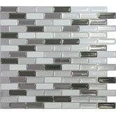 "Found it at Wayfair - Murano Metallik 11"" x 9.5"" Peel & Stick In Silver, Gray & Black"