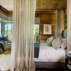 Rustic Master Bedroom With Canopy Bed