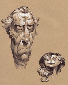 A couple of character design drawings by Kevin Keele More