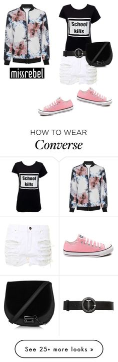 """""""WORLDWIDE DELIVERY"""" by missrebel-clothing on Polyvore featuring Alice + Olivia and Converse"""
