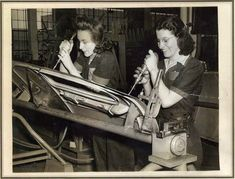 #throwbackthursday to 1944 and two women working on a wing of a mosquito bomber at General Motors.  The contributions of women to the…