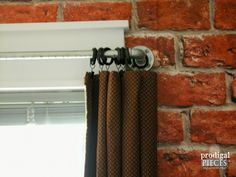Vintage industrial style is hot, especially for a teen boys' room. Come see how we transformed a bedroom on a budget. Vintage Industrial, Industrial Style, Faux Brick Wallpaper, Pipe Curtain Rods, Iron Pipe, Teen Boys, Hidden Storage, Metal Accents, Boy Rooms